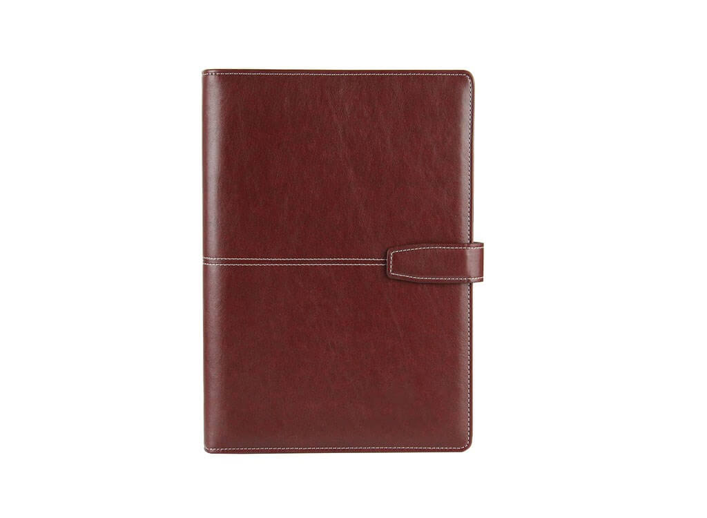 brown magnetic notebook