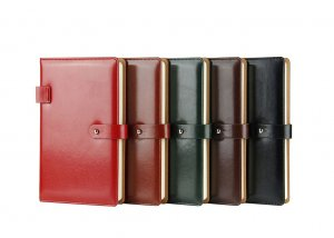 glossy leather diary