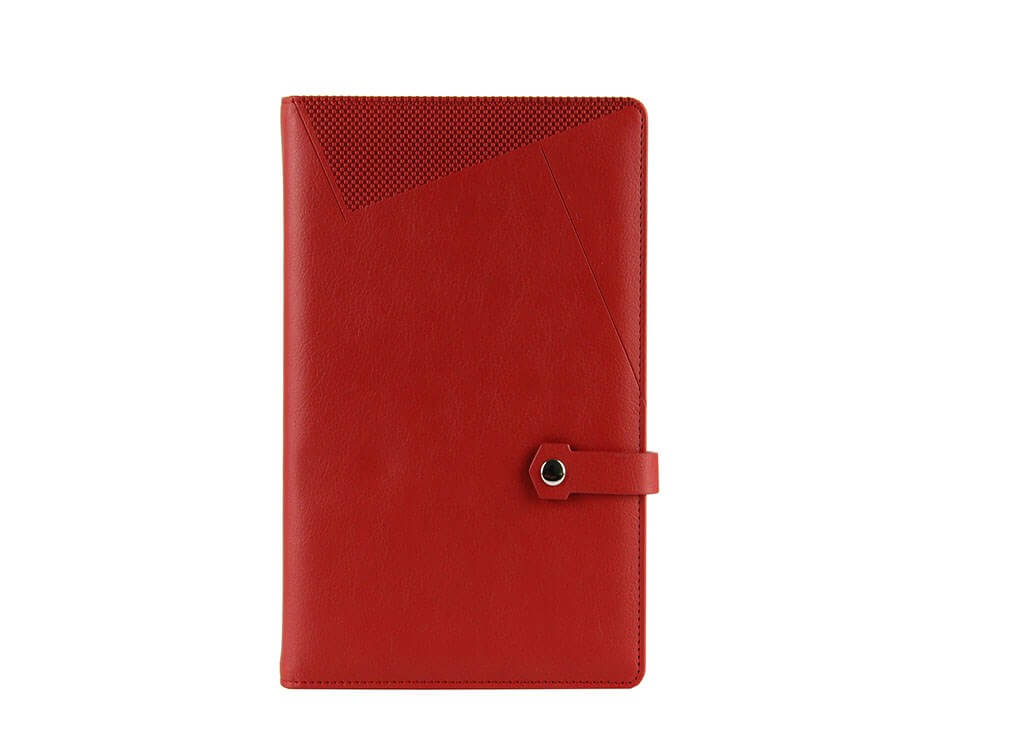red leather jotter factory